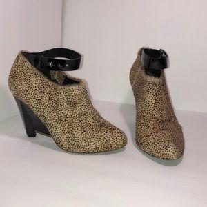 Anthro Leifsdottir Leopard Ankle Boots
